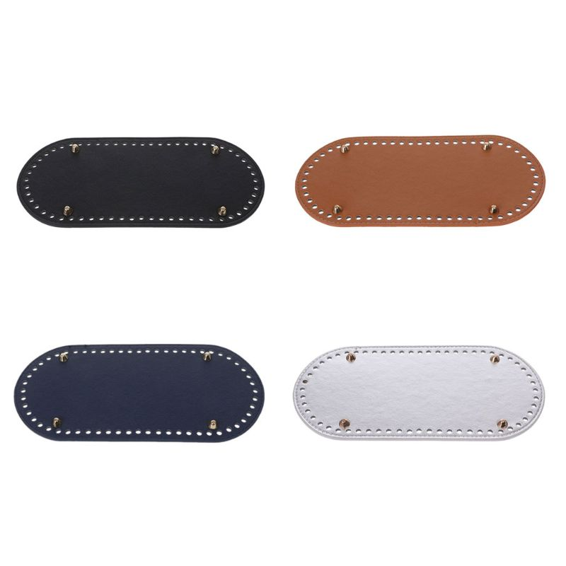 Bag Parts & Accessories Shop For Cheap High Quality Oval Long Bottom For Knitting Bag Pu Leather 60 Holes Women Bags Handmade Diy Accessories