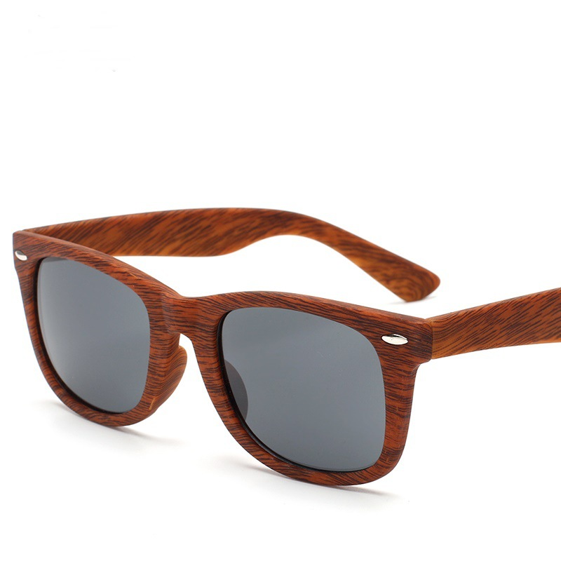 Wood grain riding glasses classic vintage plastic wood grain glasses A0B1-A0B11