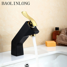 BAOLINLONG Baking finish Brass Basin Bathroom Faucets Sinks Deck Mount Mixer bath faucet Tap