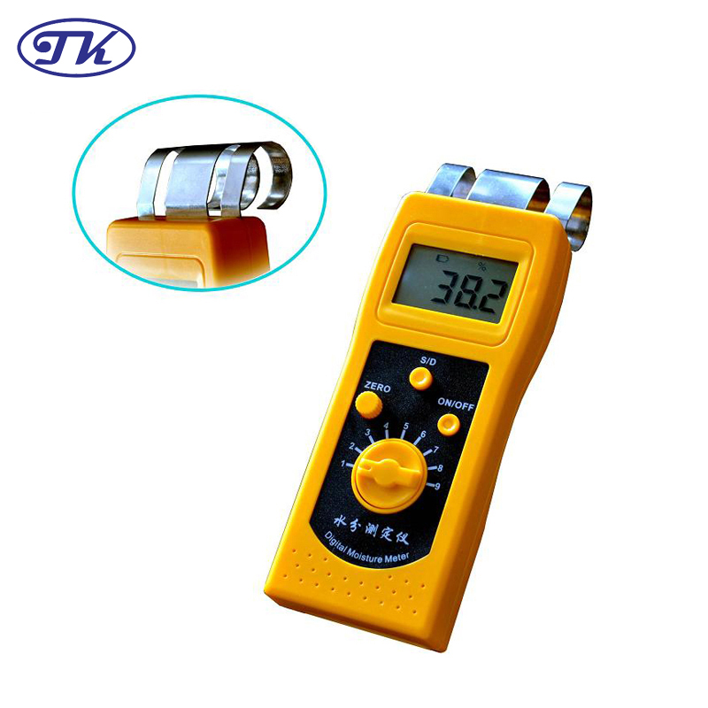 DM200T NEW High Performance Portable Digital Textile Moisture Meter dm200t 0 50