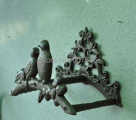 Cast Iron Birds On Tree Hose Pipe Reel Rope Holder Garden Hose Hanger Yard  Patio Lawn