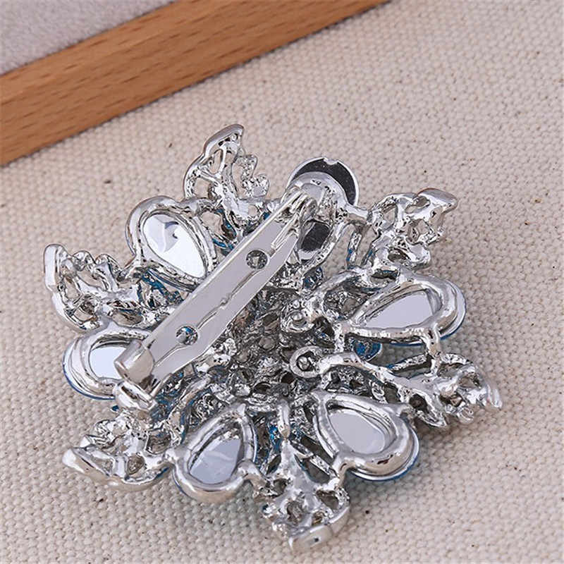 DIEZI nouvelle mode Bouquet Promotion fleur broche cristal bijoux pour mariage or strass mariée broche broches femmes broche
