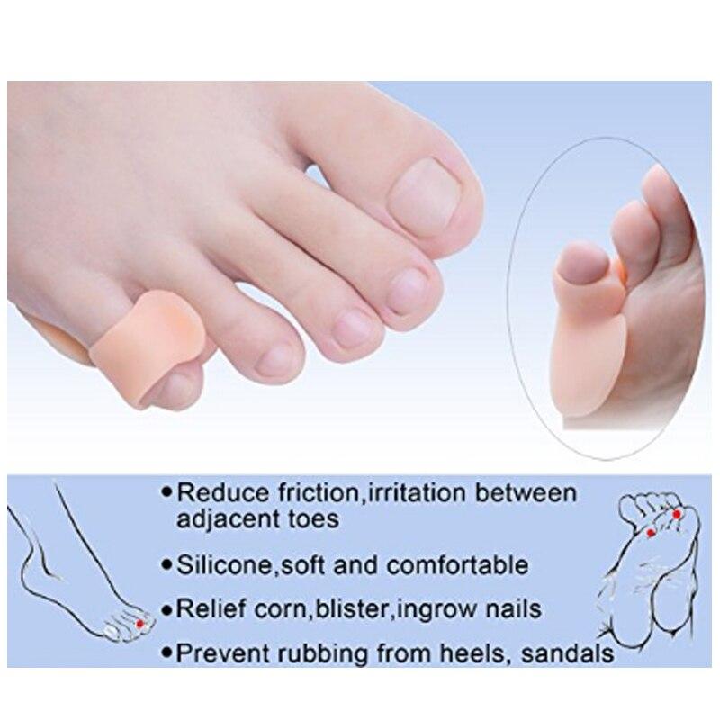 1 Pair Little Toe Protector Toe Finger Separator Guards For Hammer Toe Bunion Hallux Valgus Toe Separators Pain Relief Manicure