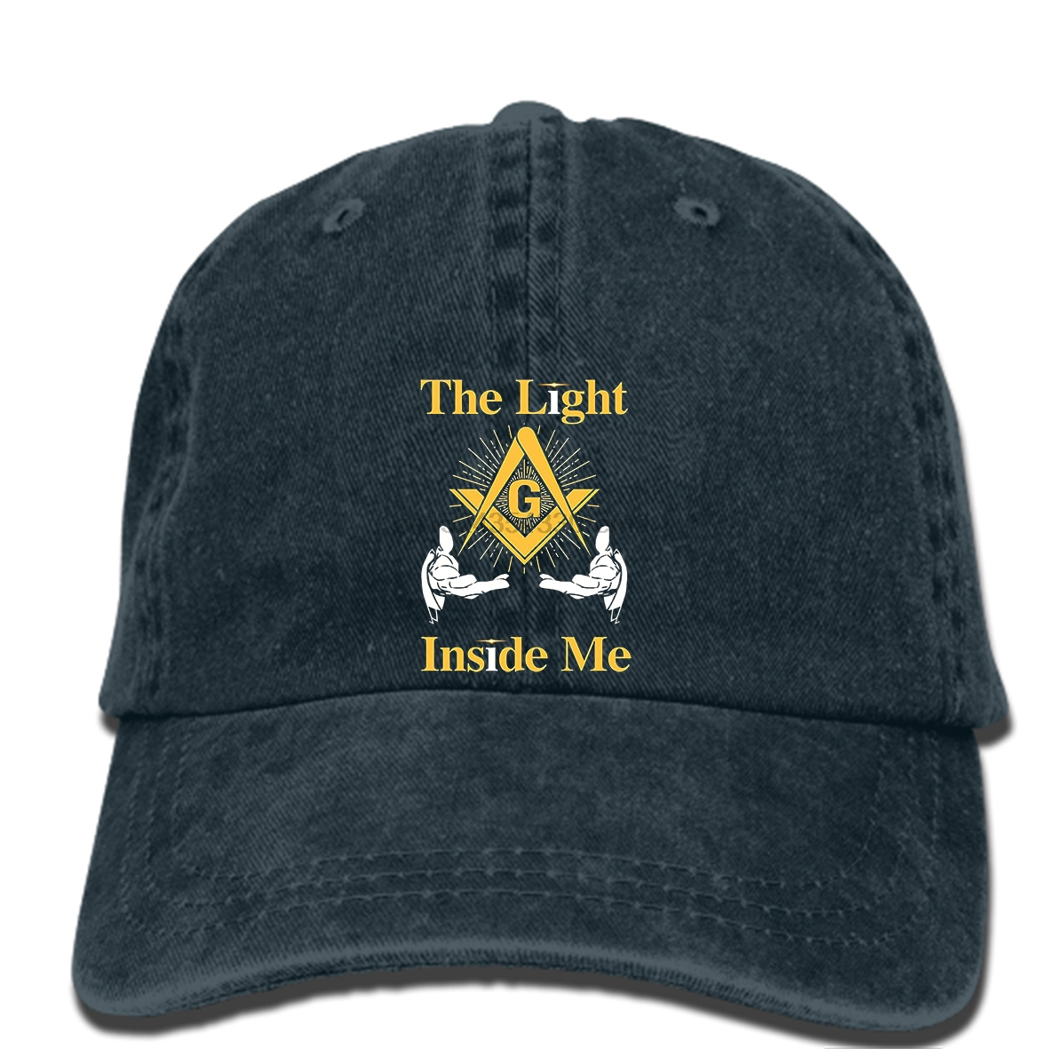 aeb461325cced hip hop Baseball caps The Masonic Store Freemason the Light Inside Me Men s  hat New Fashion