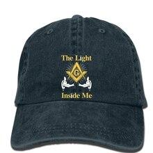 Хип-хоп бейсболки масонский магазин масонский светильник внутри меня мужская шляпа Новая модная удобная черная