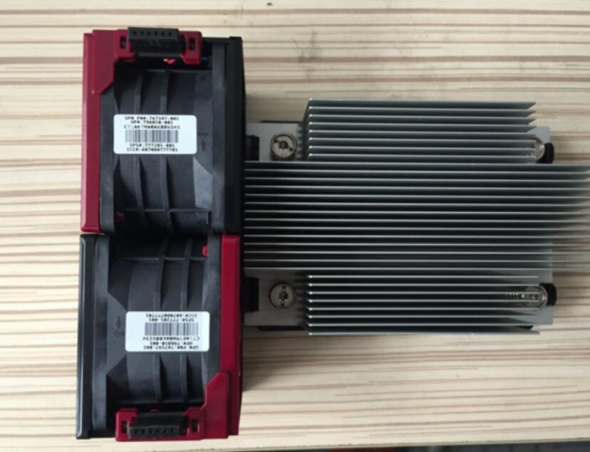 original DL380 DL388 G9  CPU heatsink set  heatsink+Fan( 747608-001/ 777290-001 /747597-001)
