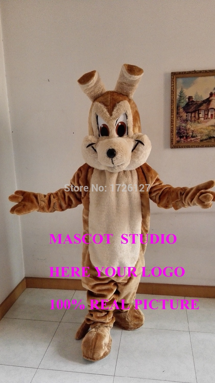 brown wolf mascot coyote costume werewolf custom cartoon character anime cosplay mascotte theme fancy dress carnival costume