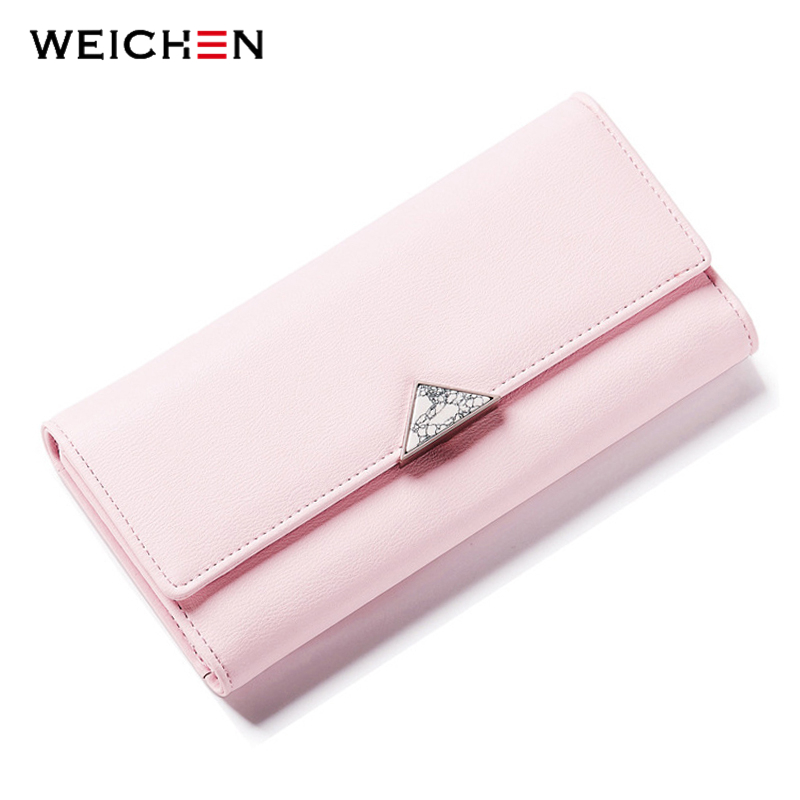 2018 Brand Lovely Leather Long Women Wallet Girls Change Clasp Purse Female Money Coin Card Holders Lady Clutch Wallets Carteras