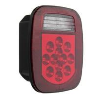 1Pcs LED Car Turn Stop Tail Lamp Reverse License Light RED WHITE Side Light For Truck