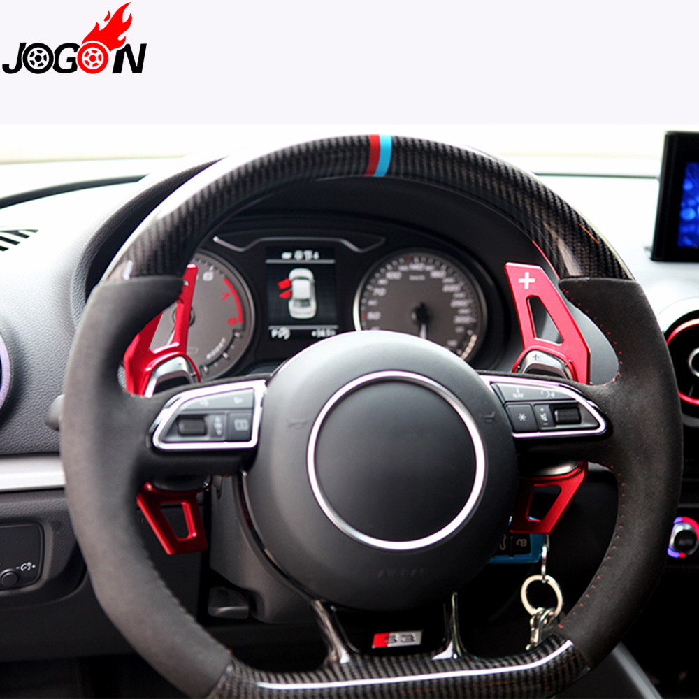 Car Metal Steering Wheel Paddle For Audi A5 S3 S5 S6 SQ5 RS3 RS6 RS7 2016