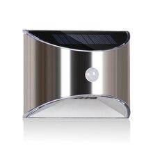 Luces solares con sensor de movimiento al aire libre lámpara de pared de seguridad LED, impermeable, ahorro de energía, patio de puerta delantera