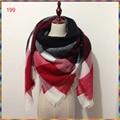 Za marca invierno tartan plaid bufanda bufanda de las mujeres al por mayor, de lujo de la señora nuevo diseño de acrílico hermosa bufanda chal de cachemira