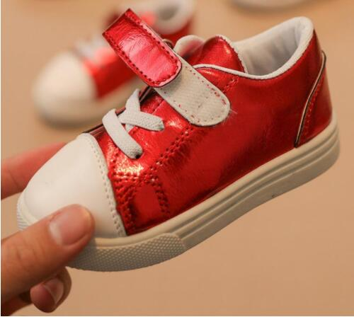 2018 Spring Autumn Children PU Leather Casual Shoes Cute Fashion Slip-on Breathable Girls Shoes For Boys Flat