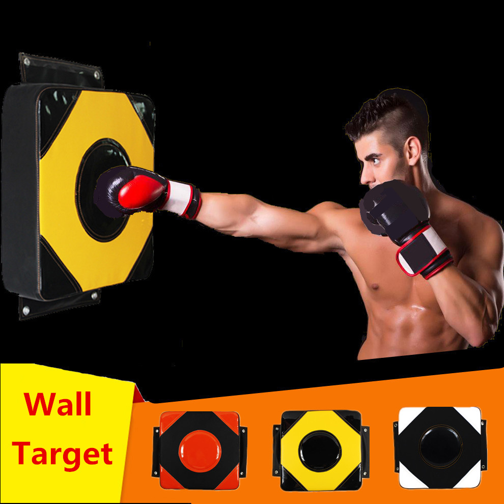 PU Wall Punch Boxing Bags Pad Focus Target Pad Wing Chun Boxing Fight Sanda Taekowndo Training Bag Sandbag Category Freeshipping