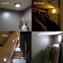 10 LED Wireless Motion Sensor Light Wall Cabinet Wardrobe Drawer Lamp Battery