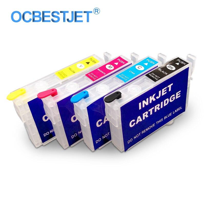4 Colors/Set T0731-T0734 Refillable Ink Cartridge For Epson Stylus CX7300 CX8300 C79 C90 CX5900F CX6900F CX5500 CX5501 Printer ciss bulk refillable ink cartridge for epson stylus pro 7700 7710 9700 9710 printer ink cartridge