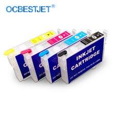 Cartouche d'encre rechargeable, pour imprimante Epson Stylus TX210 CX3900 CX7300 CX8300 C79 C90 T40W CX5900F CX6900F, T0731 T0731N 73N