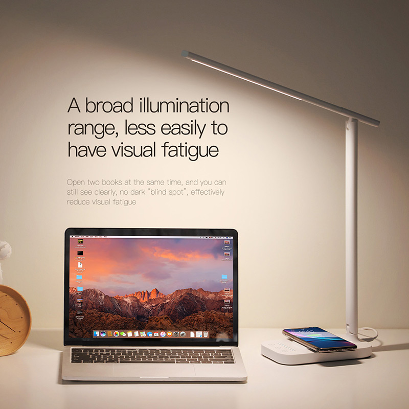 Baseus Lamp Qi Wireless Charger for iPhone XS Max X Foldable Table Desktop Desk LED Light Fast Wireless Charging Pad for Samsung 4