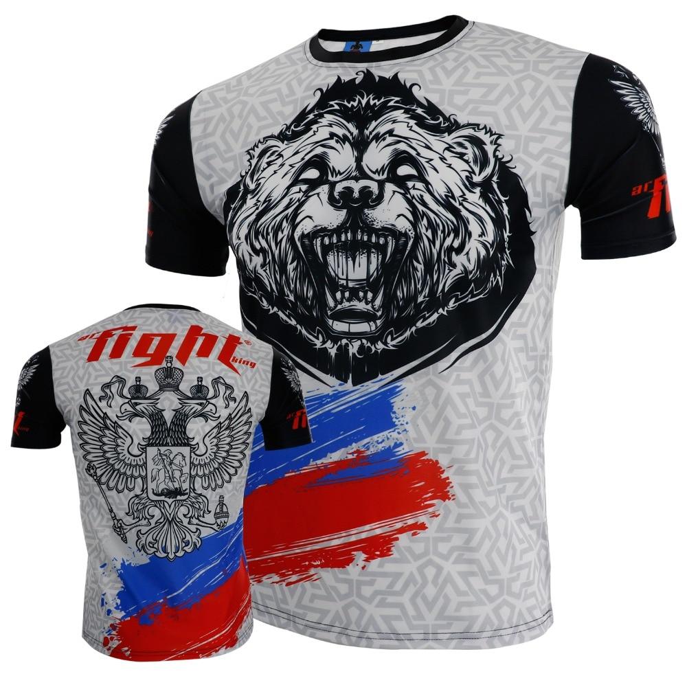 Men's Giant Cross Graphic Designer Boxing Jerseys Muay Thaijiu Jitsu Sauna Suit Rashguard Mma T Shirt King Boxing Mma Shirts