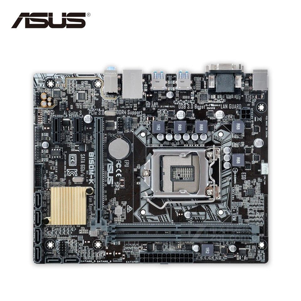 Asus B150M-K Desktop Motherboard B150 Socket LGA 1151 i7 i5 i3 DDR4 32G SATA3 Micro-ATX цена