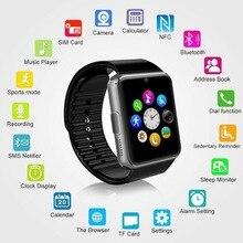 GT08 بلوتوث ساعة ذكية تعمل باللمس شاشة كبيرة بطارية دعم TF سيم بطاقة كاميرا ل فون الروبوت Smartwatch PK DZ09 ووتش