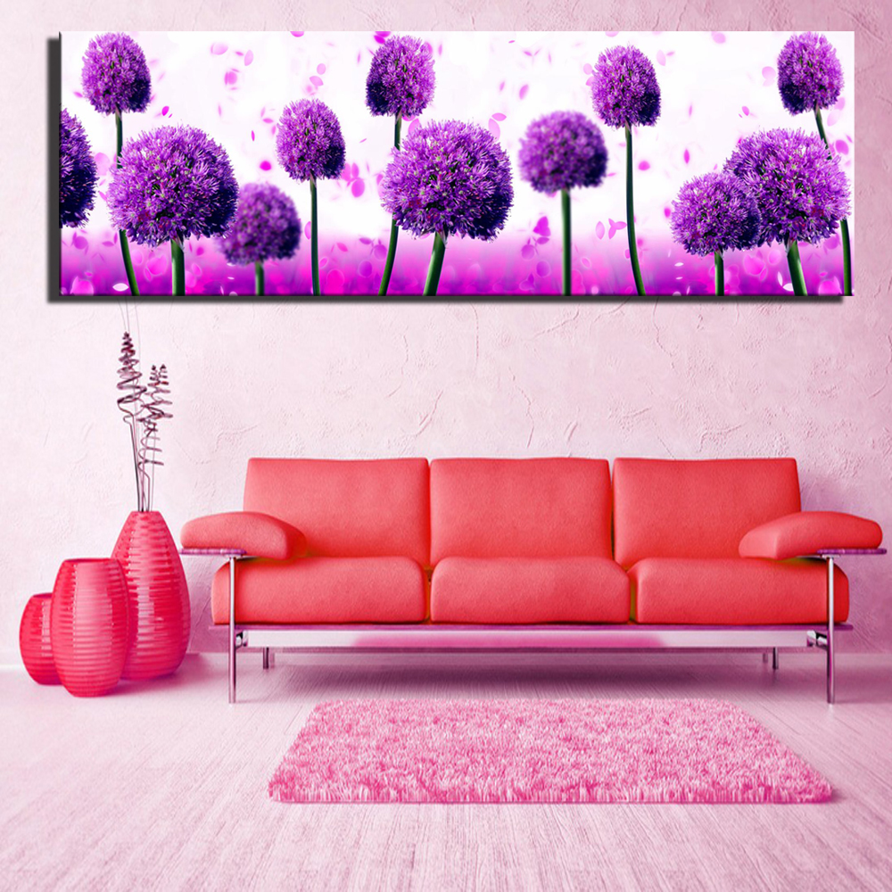 Red dandelion hd print pop art canvas paintings for living - Landscape paintings for living room ...