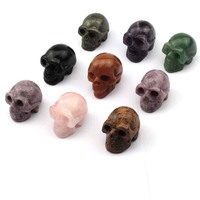 skull head shape natural stone decoration natural stone beads DIY loose beads for jewelry making 1 piece free shipping wholesal
