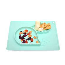Baby Silicone Bowl Dishes Infant Safety Feeding Plate Tray Food Dish Suction Training Placemat