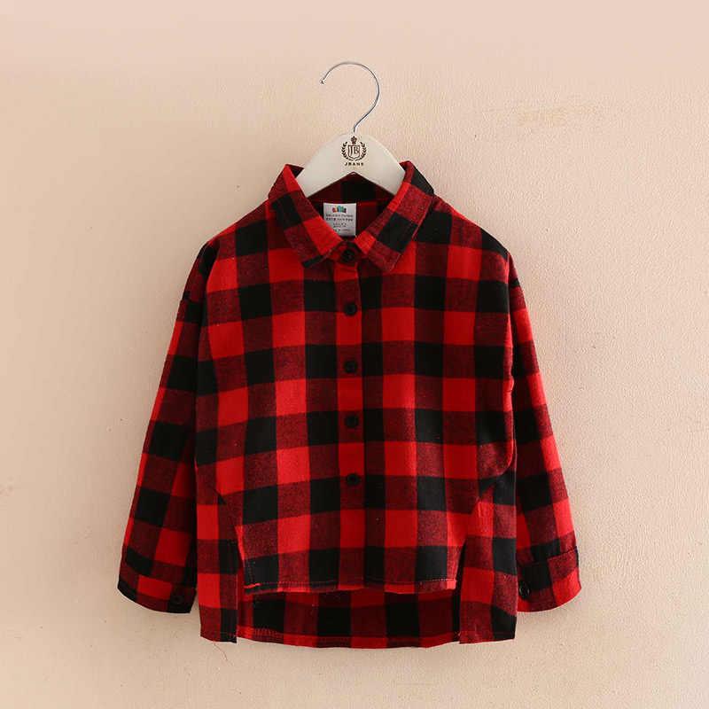 b7f6f205a1a ... Брендовая рубашка в клетку детская блузка для малышей для возраста от 6  до 14 лет для ...