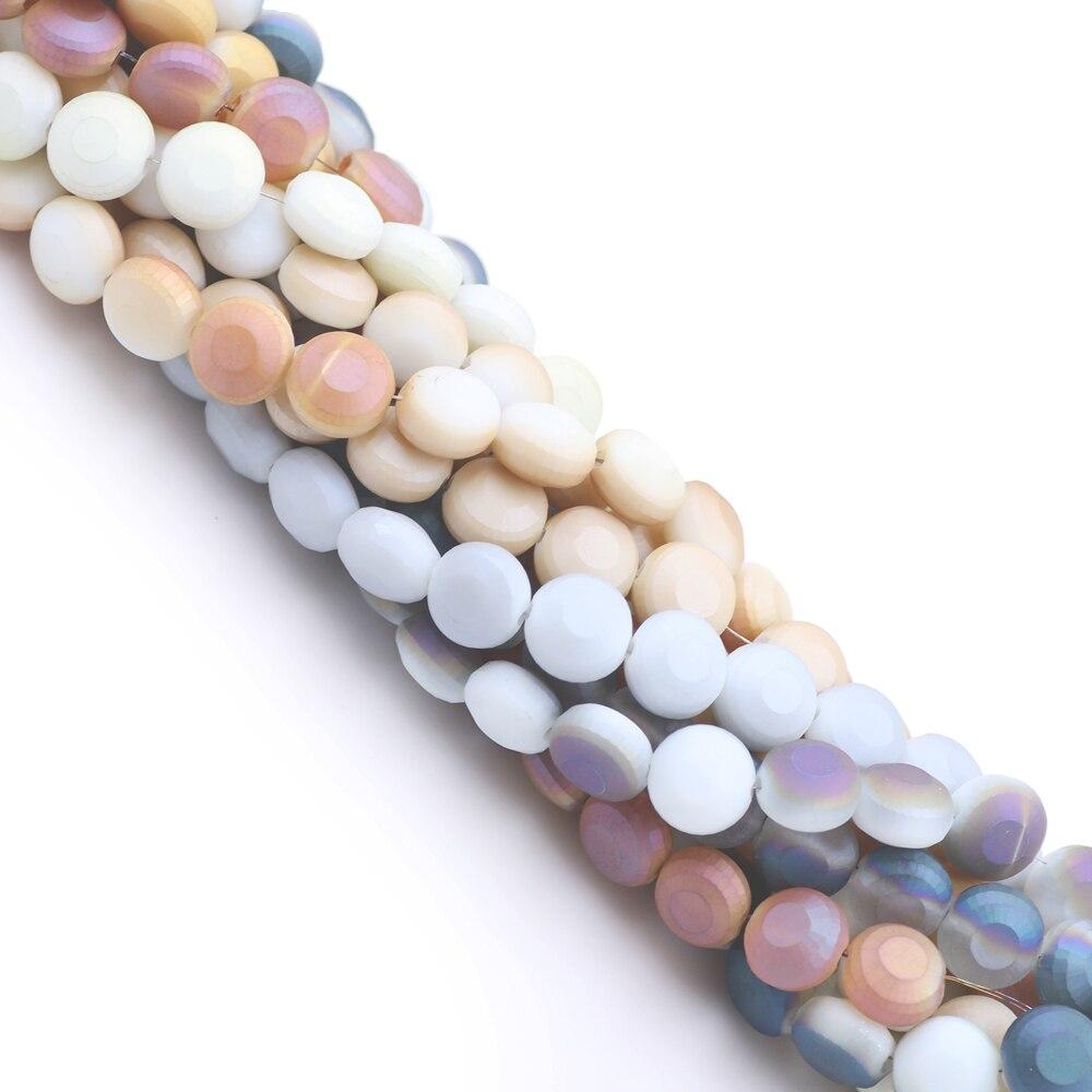 50 ou 100pcs couleurs mélangées en verre dépoli perles rondes 4 To 10 mm fabrication de bijoux