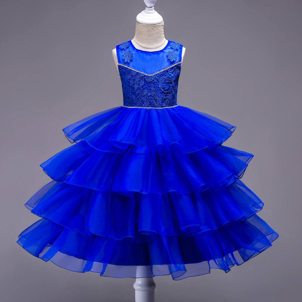 Girls Tulle Layered tutu Dress Children Kids Birthday Wedding Princess Lace Dresses Girls Evening Party Formal Frocks costumes 6 16 years girls full dress tulle formal tutu long prom princess champagne children dresses frocks for wedding birthday party