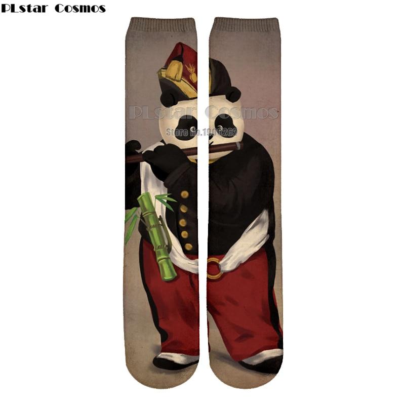 Plstar Cosmos new 3D socks Panda classical cartoon style 3D High Socks Men Women high quality drop shipping