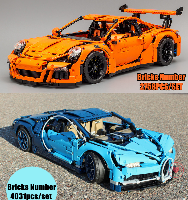 New Arrival Technic series fit legoings technic speed racing car 42083 42056 model Building Blocks bricks boy diy Toy kid gift