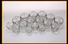 Chinese Cupping Thickening cups Vacuum cupping, Explosion-proof glass cupping jar of a set of 16 home