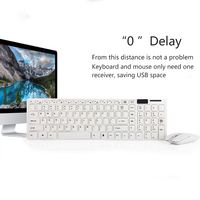 New Hot 2.4G Wireless Keyboard Mouse Set Wireless Optical Mouse 1600dpi Keyboard Movie Set for Laptop PC