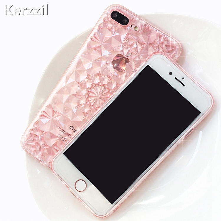 Kerzzil 3D Diamond Pattern Sunflower Case For iPhone 7 6 ...