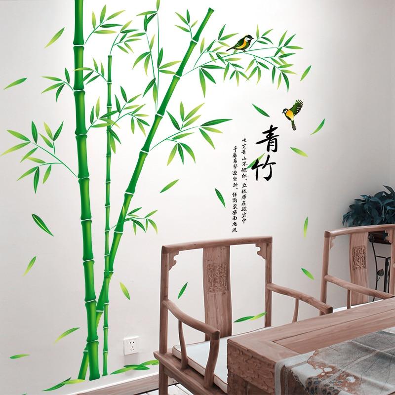 [SHIJUEHEZI] Bamboo Πουλιών Αυτοκόλλητες - Διακόσμηση σπιτιού - Φωτογραφία 4