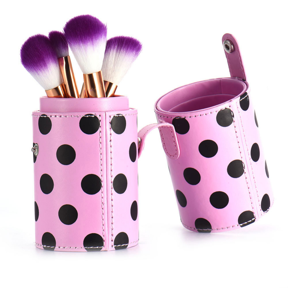 New Arrival PU Leather Cosmetic Brushes Holder Case Portable Storage Makeup Brush Organizer Containe Bag Cosmetic Makeup Tool spark storage bag portable carrying case storage box for spark drone accessories can put remote control battery and other parts