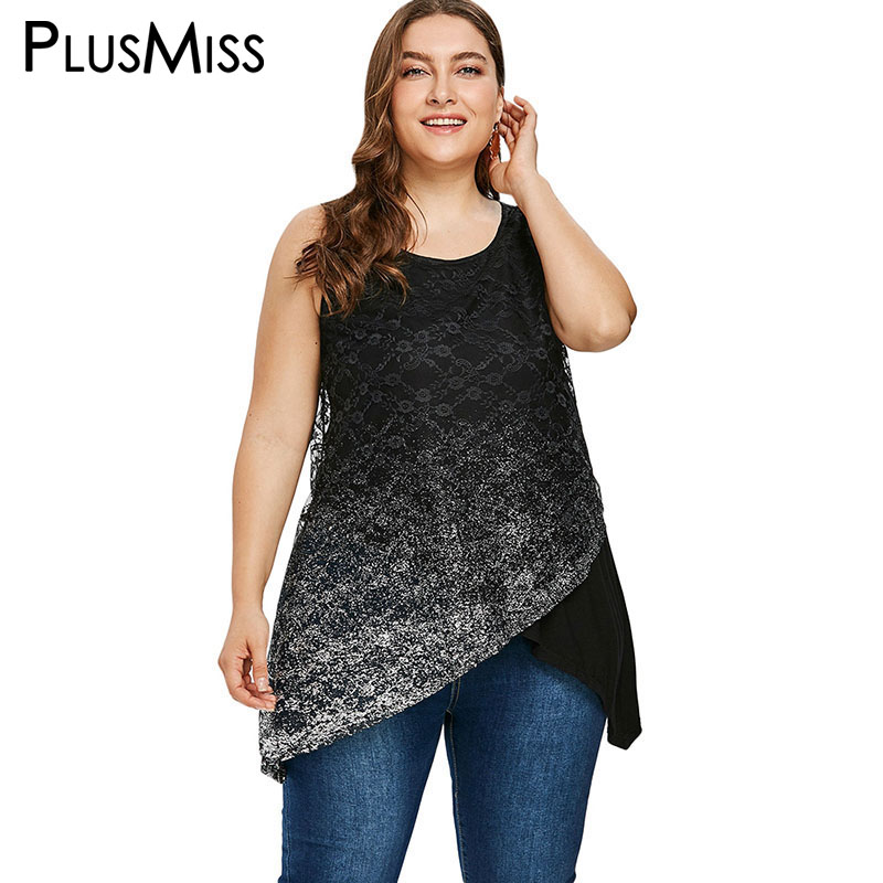 PlusMiss Plus Size 5XL 4XL Summer 2018 Mesh Sequin Tank Tops Women Clothes Big Size Sexy Sleeveless Beach Party Vest Top Ladies