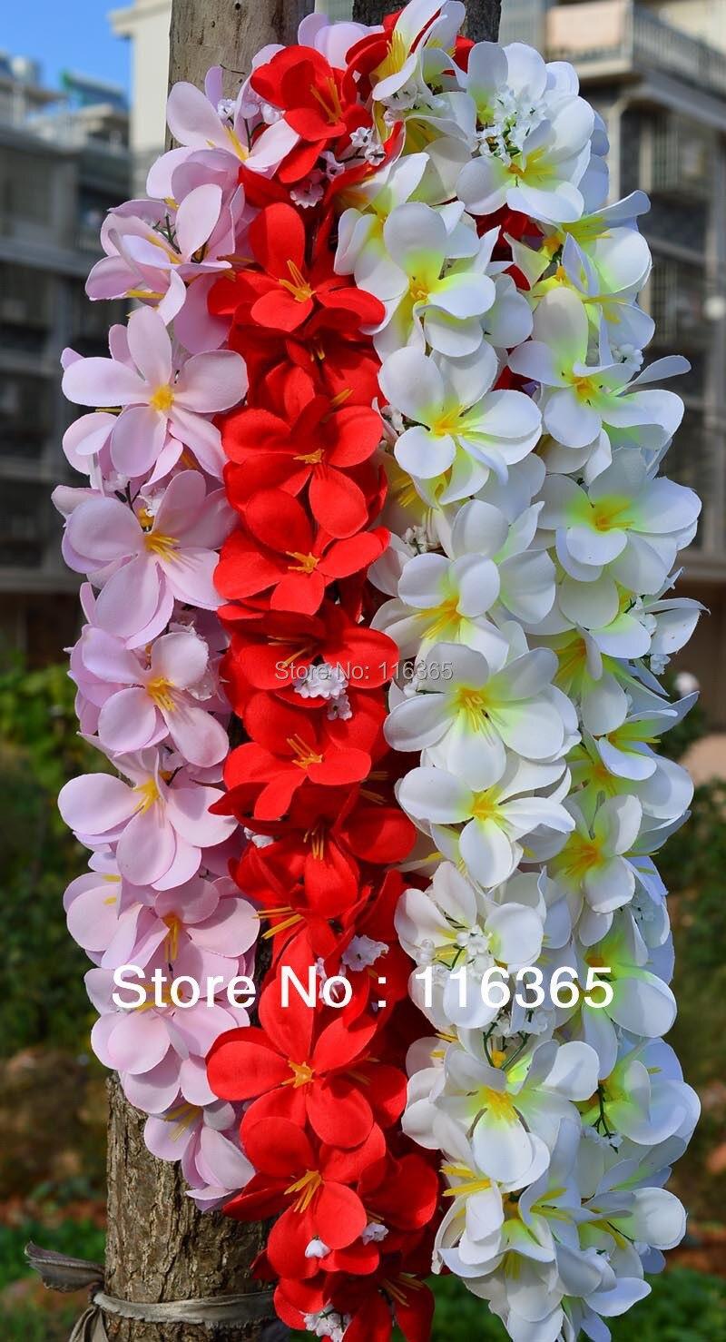 3pcs/pack Artificial Hawaiian Frangipani Flower Leis Wedding Garland ...