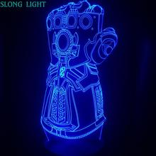 3d Lamp Led Marvel Thanos Glove Kids Night Light Dropshipping 2019 Nightlight Child Gift Bedroom Decor Bedside Table