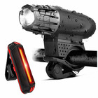 UpperX Bike Lights Bicycle Lights Front and Back USB Rechargeable Bike Light Set Super Bright Front and Rear Cycling Accessories