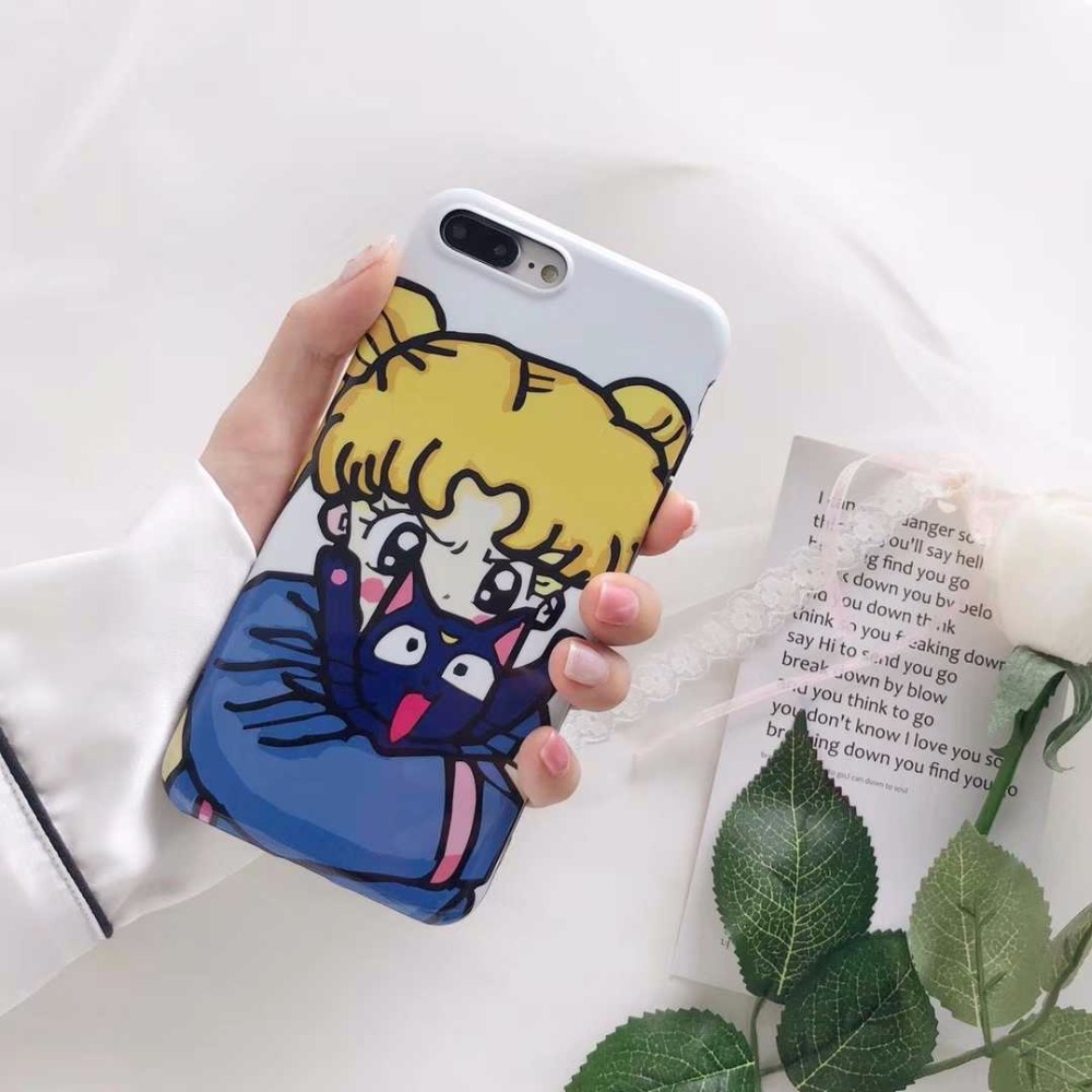 Warrior girl Cute girl for Apple iphone X mobile phone shell iPhone7plus/8/6s personality cartoon 8p protection soft shell
