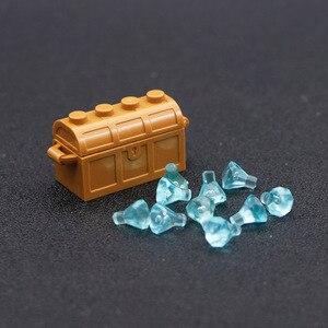 Image 3 - Accessori per città mattoncini da costruzione scatola per gioielli gemma pietra preziosa figura pirata dei caraibi giocattolo del tesoro compatibile con lego