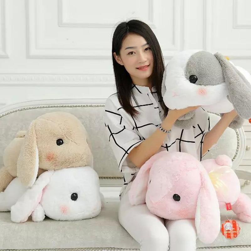 Free Shipping  Amuse plush toys Japan lie prone posture LOLITA super soft of the Loppy eared rabbit  doll kids toys
