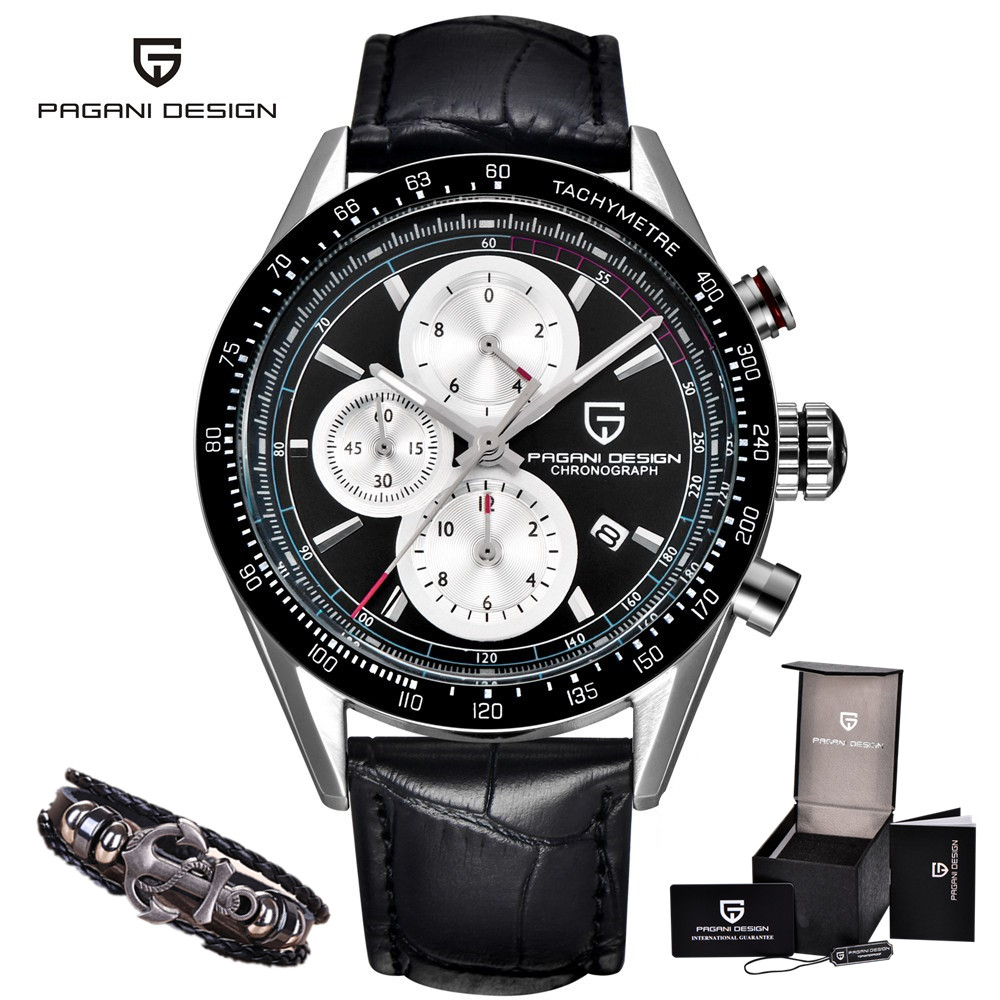 Luxury Brand PAGANI DESIGN Watches Waterproof Outdoor Sport Chronograph Military Army Leather Quartz Watch Men Relogio Masculino new arrival longbo 5072 fashion women men quartz watch stainless steel mesh band simple wrist wacthes for lover luxury top brand