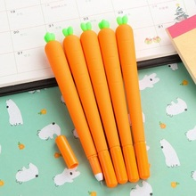 1piece/lot Vegetable Design 0.5mm Black Ink Carrot Cap With Gel Pen Office School Stationery Supplies