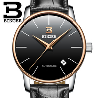 Montre Homme New Luxury Mens Watches Super Soft Leather Clock Men Date Day Calendar Waterproof Automatic Wrist Watches For Men