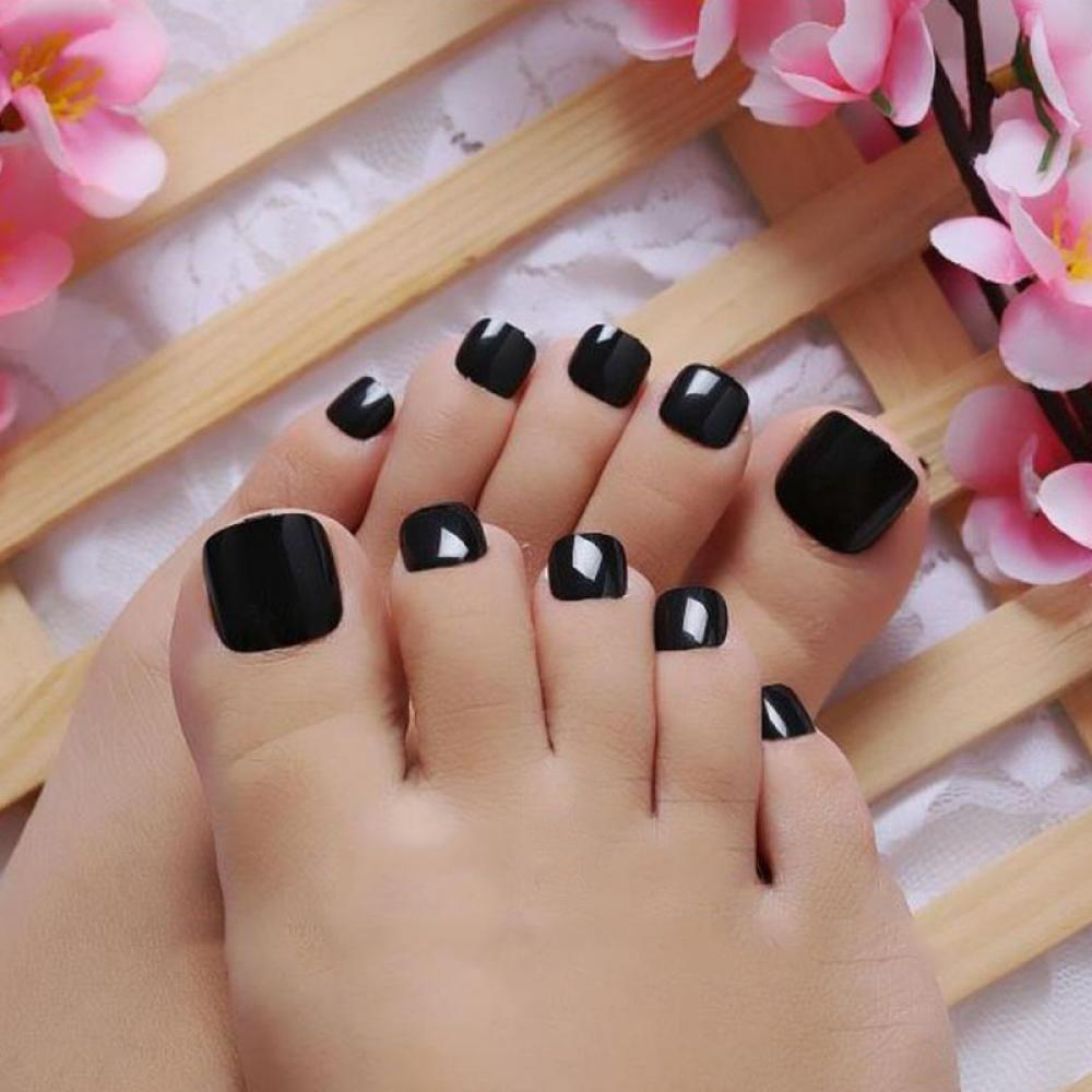 New Fashion Toe Sticker Y Black Nail Decals Diy Pedicure Supplies Art Stickers Decorations In From Beauty Health On
