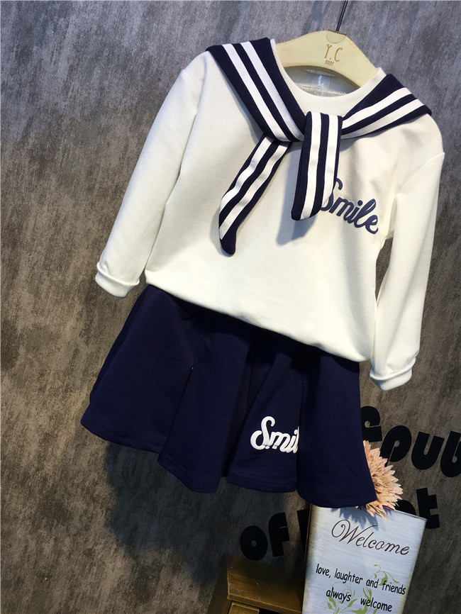 qız üçün yeni Navy stil dənizçi kostyum paltarı oğlan - Uşaq geyimləri - Fotoqrafiya 3